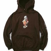 FLATLUX(フラットラックスBizarre Surfer Hoodie(Chocolate)FX19-511 パーカー