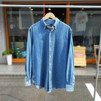 Ralph Lauren /Denim Button Down Shirt/Lt.Blue/Used