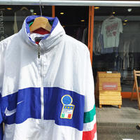 OLD NIKE/90's NIKE PREMIER ITALIA TEAM JACKET/White×Purple/Used
