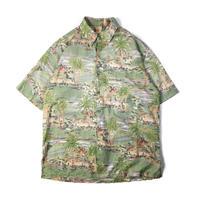 Tori Richard / Hawaiian Half Sleeve Shirt / Green / Used