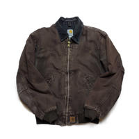 Carhartt/Duck Santa Fe Jacket/Quilted-Flannel Lined/Brown/Used