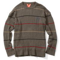 FLATLUX(フラットラックス)Force Sweater(boombap)FX19-512 ニットドルマン スリーブ ブーンバップ