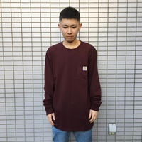 Carhartt (カーハート)Workwear Long-Sleeve Pocket T-Shirt(Port)ポケット ロングスリーブ TEE