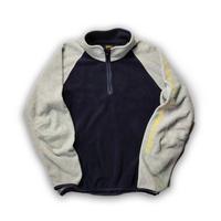 NAUTICA /Pile Half Zip Fleece/Grey×Navy/Used