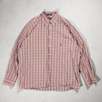 NAUTICA /B.D Check Shirts/Orange/Used