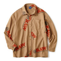 "INTERBREED(インターブリード)RAW x INTERBREED ""Logo Textile Work Shirts"" / Lt Brown"