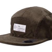 DL HEAD WEAR(ディーエルヘッドウェア)Omega 5Panel Camp Cap(velour olive)DL002001 オメガ 5パネル キャンプキャップ ベロア
