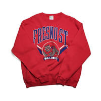 """FRESNO ST"" College Crew/USA/Red/Used"