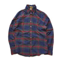 Made in USA/90's L L.Bean/B.D Check Shirts/Navy×Red/Used