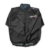 90's Reebok/Ripstop Nylon Football Jacket/Black×Moss/Used