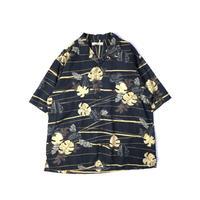 Tommy Bahama / Hawaiian Open Collar Shirt / Black / Used