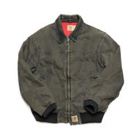 Carhartt/Duck Santa Fe Jacket/Quilted-Flannel Lined/Black/Used