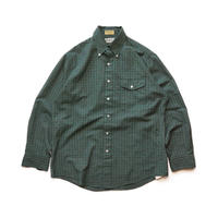 Made in USA/90's L L.Bean/B.D Check Shirts/Green/Used