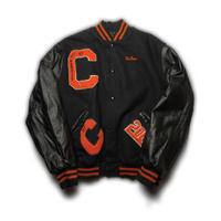 St.Charles Univercity Bascket Ball Studiam Jacket/Black/Used
