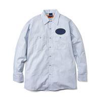 INTERBREED(インターブリード)Irony Work Shirts(ブルーストライプ)IB19AW-28 シャツ ワークシャツ レッドキャップ