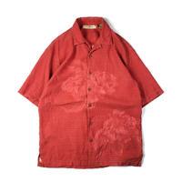 Tommy Bahama / Hawaiian Open Collar Shirt / Vermilion / Used