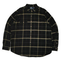 Polo by Ralph Lauren /Flannel Check Work Shirts/Black/Used