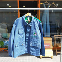 90's REAL WORK SHIRT/Lt.blue/Used