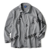 "INTERBREED(インターブリード)RAW x INTERBREED ""Logo Textile Work Shirts"" / Cool Grey"