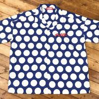 スタンダードロゴ刺繍ドットシャツ ネイビー