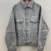 スタンダードロゴ刺繍カラーデニムジャケット グレー