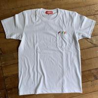 マルチカラー刺繍ポケット付きヘビーウェイトTシャツ