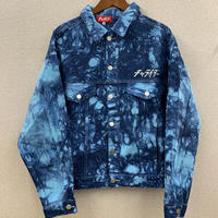 スタンダードロゴ刺繍タイダイデニムジャケット ブルー