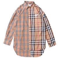 スカーフロゴ刺繍チャラーバリーロングシャツ