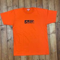 スラッシュボックスロゴTシャツ オレンジ