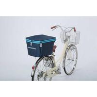 2段式 自転車後カゴカバー おしゃれ ネイビー×ブルー   撥水防水 川住製作所 275NV-BL