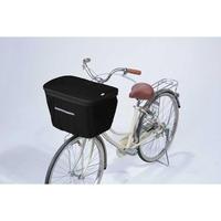 2段式自転車前カゴカバー オールブラック  ワイドかご対応 770BK