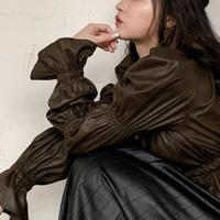クシュクシュ-tops【dark brown】