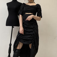 gather shirt OP 【black】