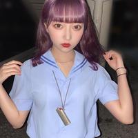 【BLUE】このみ塾の制服&ライターケースネックレス