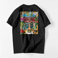 首里城チャリティTシャツ  黒  バックプリント