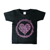 LEX x CheeRing School コラボレーションTシャツ ブラックxピンクーロゴ