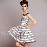 海外インポートブラック×ホワイトバイカラープリーツワンピースドレス