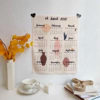 """ファブリックカレンダー2021""""vase"""""""