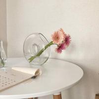 ガラスの透明な花瓶