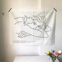 抽象画のミントグリーン ファブリックポスター