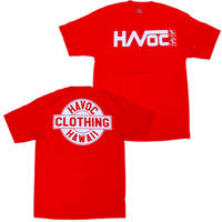 HAVOC HAWAII CLOTHING     HAVOC  Tshirts    Red/White