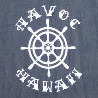 HAVOC HAWAII CLOTHING   アンカーTshirts  Black/White