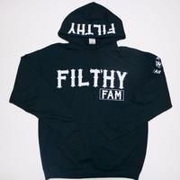 FILTHY Hawaii FILTHY FAMパーカー/ブラックホワイト