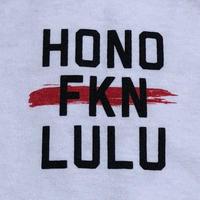 BLACK LABEL  HI   HONO FKN LULU T-shirts ホワイト/ブラック
