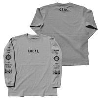 GOOD TIMES ORIGINALS    LOCAL   ロングスリーブシャツ グレー/ブラック