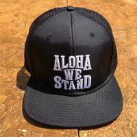 THE FIRM   ALOHA WE STAND  スナップバック メッシュキャップ ブラック/ホワイト