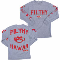 FILTHY HAWAII      LongSleeve Shirts グレー/レッド