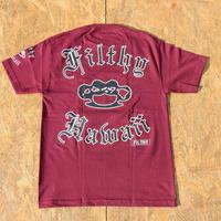 FILTHY HAWAII   Filthy Hawaii   Tshirts     バーガンディ/ブラック.ホワイト