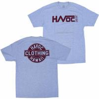 HAVOC HAWAII CLOTHING    HAVOC Tshirts   Gray/Bargandy