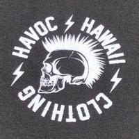 HAVOC HAWAII CLOTHING      Rock T-shirts ブラック/ホワイト